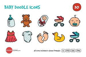 Baby Doodle Icons Set
