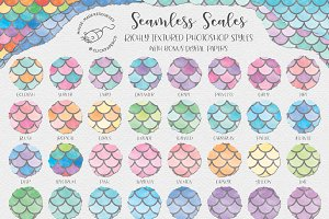 Seamless Scales Photoshop Styles