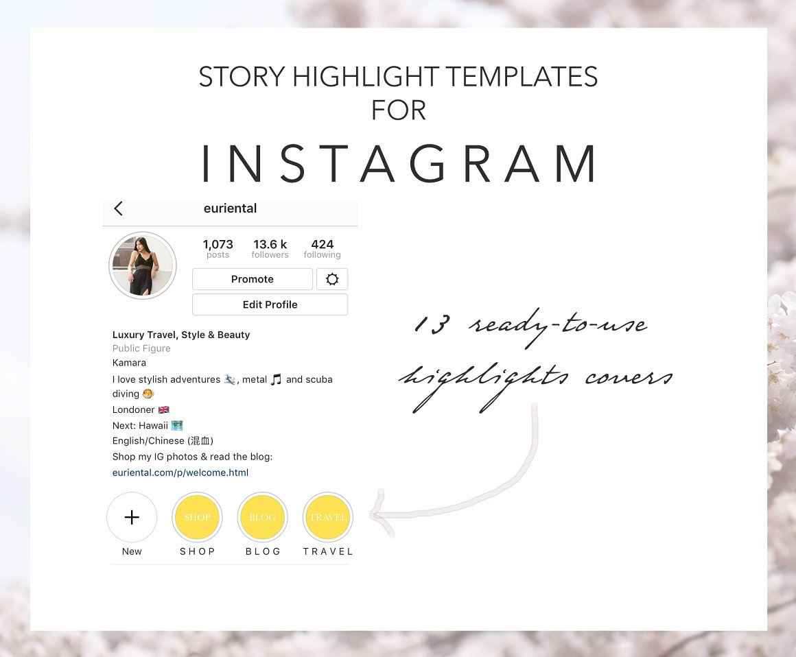 Instagram Story Covers Yellow