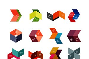 Vector arrow geometric stickers