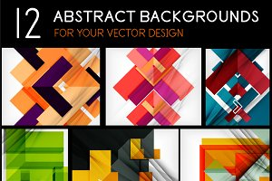 12 abstract backgrounds