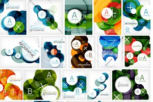 25 circle infographic designs