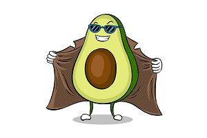 Avocado exhibitionist in raincoat pop art vector