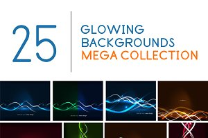 25 glowing web backgrounds