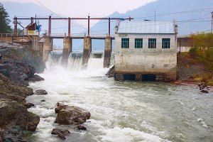 Hydro electric Electricity power plant - powerplant