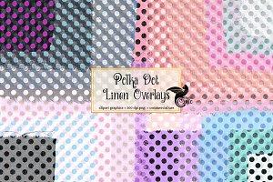 Polka Dot Linen Overlays