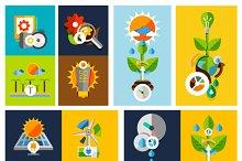 Nature eco green designs set