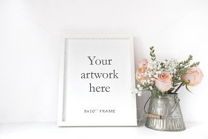 Floral Frame Mockup - wfr178