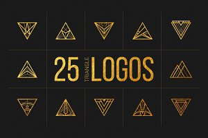 25 Linear Geometric Logos. Part III