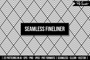 Seamless Fineliner 22 Vectors