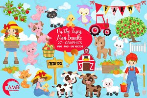 On the farm clipart bundle AMB-1494