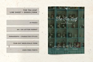 The Tea Leaf Line Sheet + Order Form