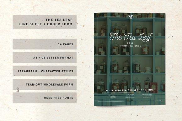 The Tea Leaf Line Sheet Order Form