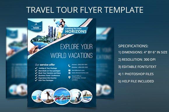 Travel Tour Flyer Template Flyer Templates Creative Market
