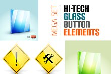 Glass button elements