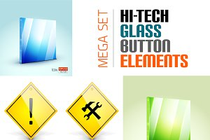 Glass button elements