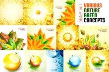 Green nature design templates