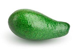 whole avocado isolated on white background close-up