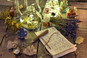 Letter and magic ritual objects
