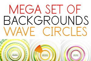 Wave & circle backgrounds