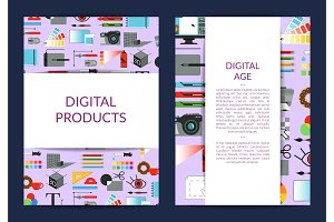 Vector card template for digital art design
