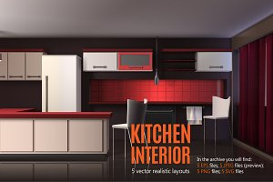 Kitchen Realistic Interior