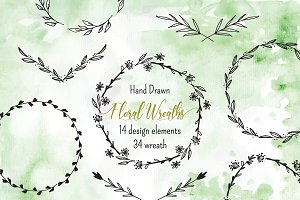 №265 Wreath Clip Art 1