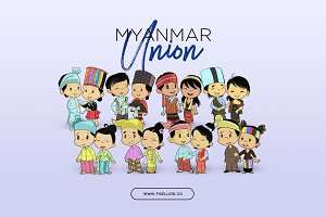 Myanmar Union Illustration