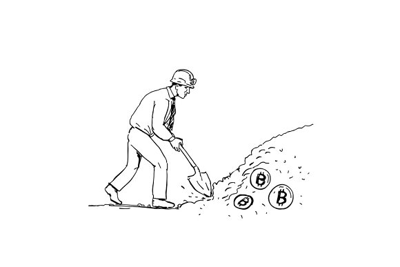 Bitcoin Miner Mining Cryptocurrency