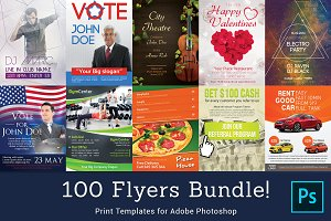 100 Flyer Templates Bundle