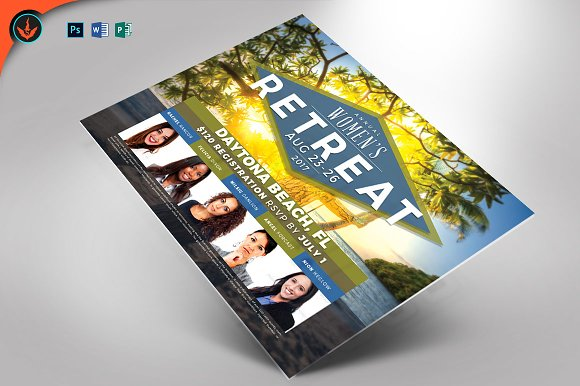 women s retreat flyer template flyer templates creative market