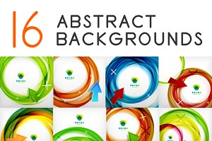 16 abstract circle backgrounds