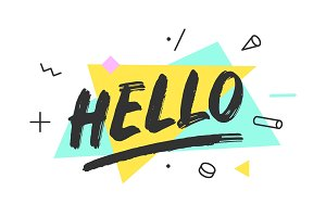 Hello. Banner, speech bubble