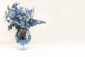 Blue Floral Arrangement
