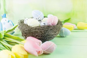 Easter decorative background