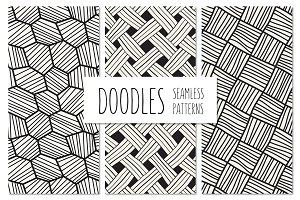 Doodles. Seamless Patterns Set 3