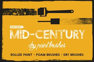 Mid-Century - Dry Paint Brushes