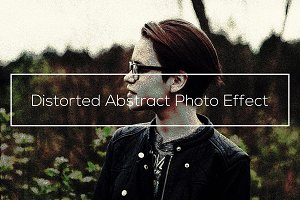 Distorted Abstract Photo Effect