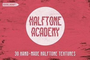 30 Halftone Academy Textures