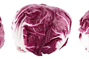 Collection of red salad radicchio