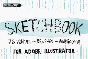 Sketchbook Brushes for Illustrator