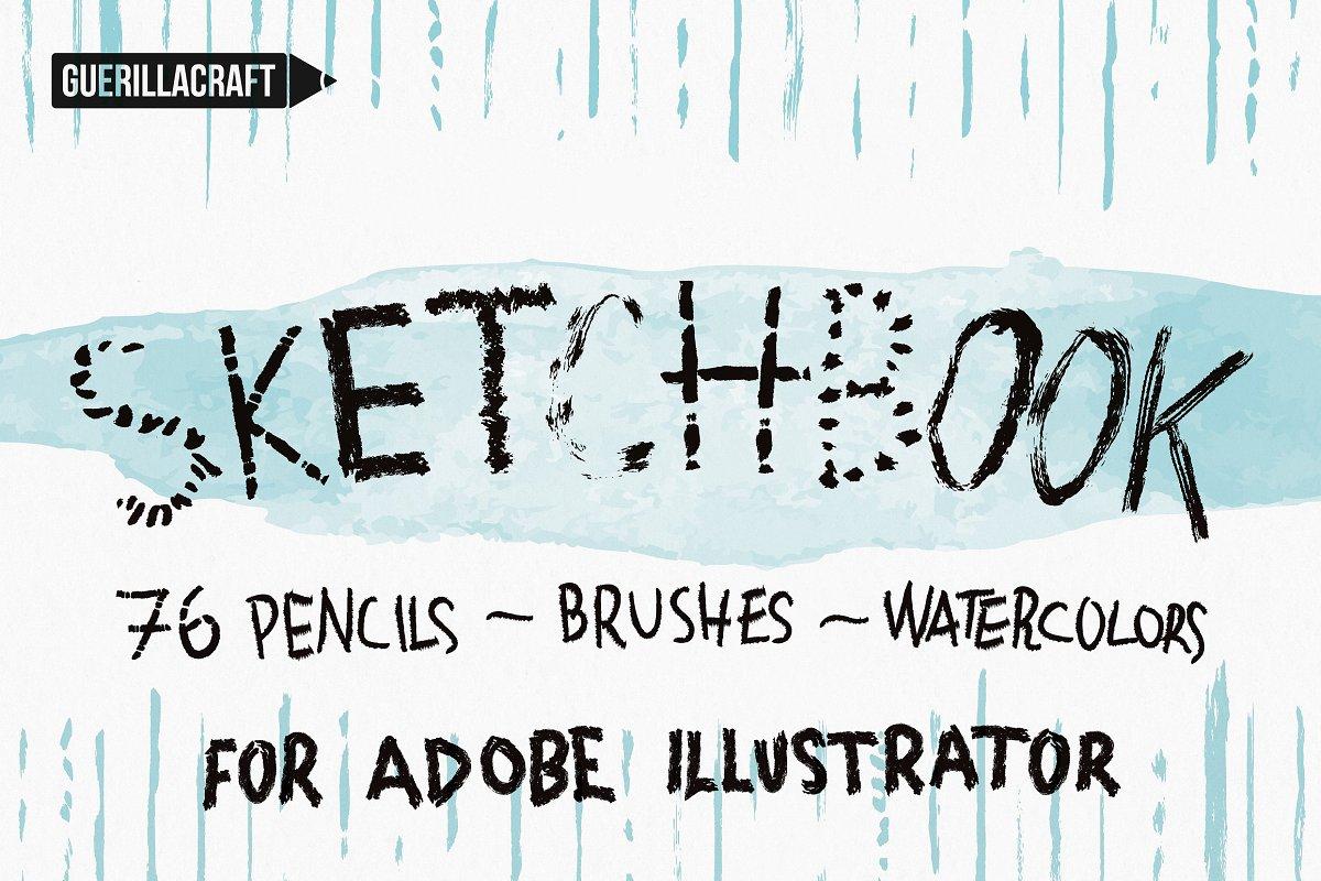 Sketchbook Brushes for Illustrator ~ Illustrator Add-Ons ~ Creative