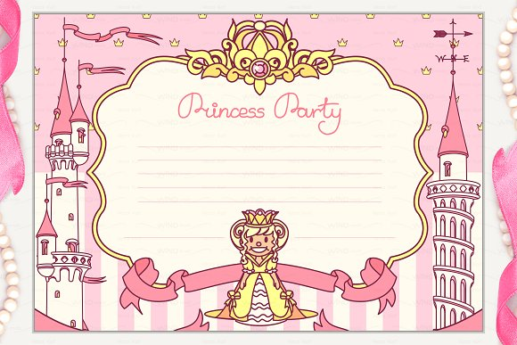 Vector Princess Party Invitation 1