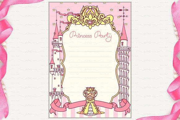 vector princess party invitation 2 invitation templates vector princess party invitation 2 invitations stopboris Image collections