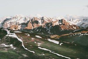 Sunset Mountains rocks Landscape