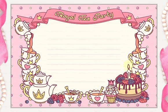 Vector Royal Tea Party Invitation