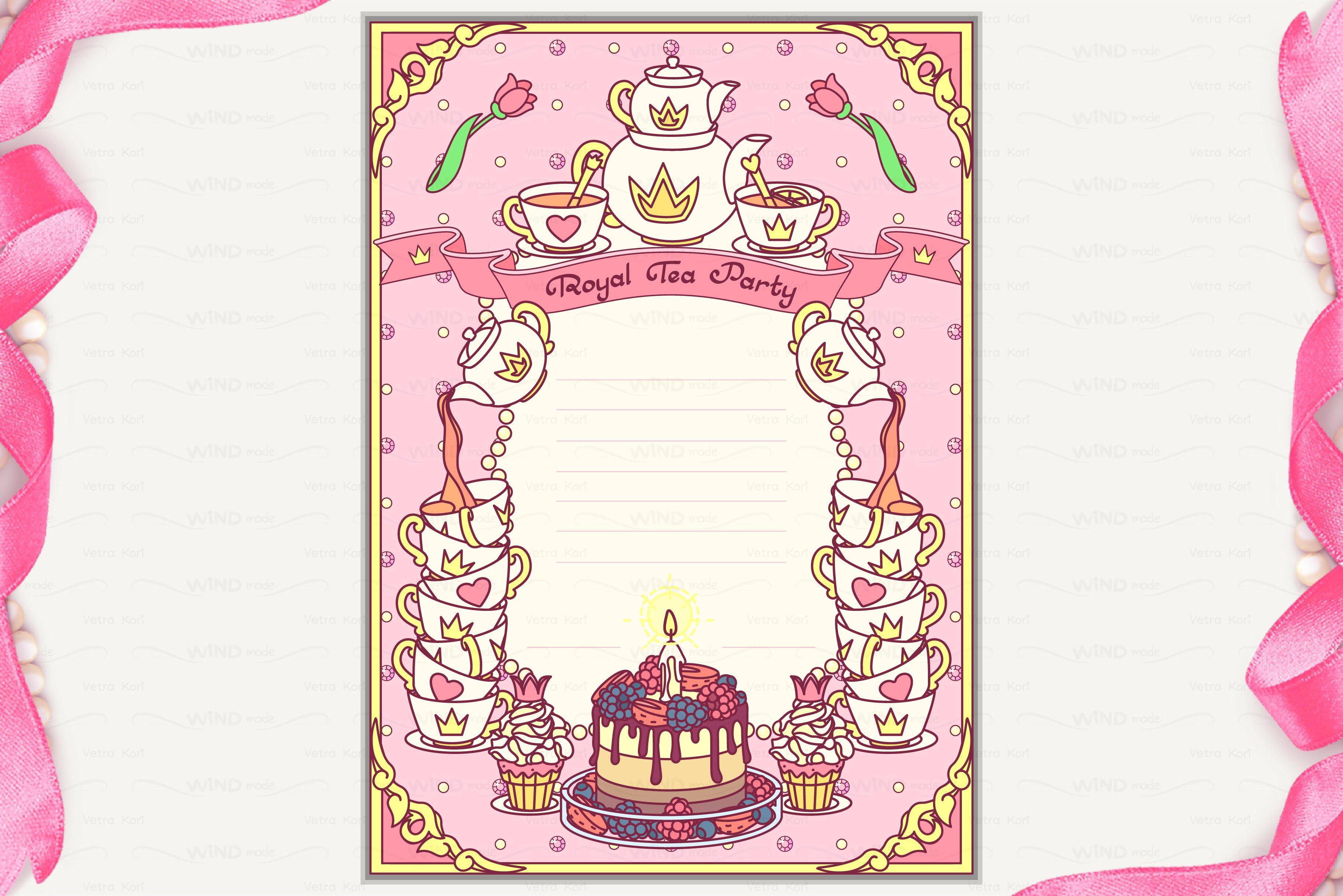 vector royal tea party invitation invitation templates vector royal tea party invitation stopboris Gallery
