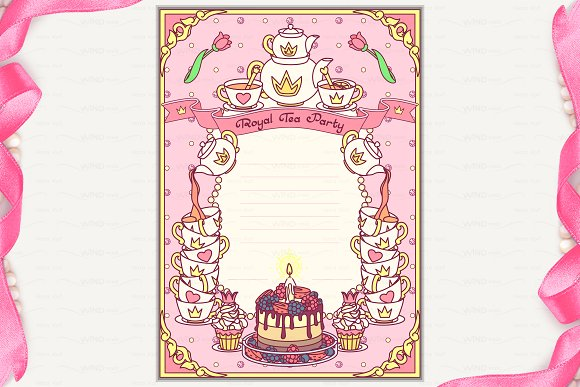 vector royal tea party invitation invitation templates