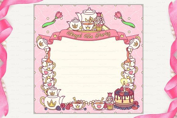 vector royal tea party invitation invitation templates