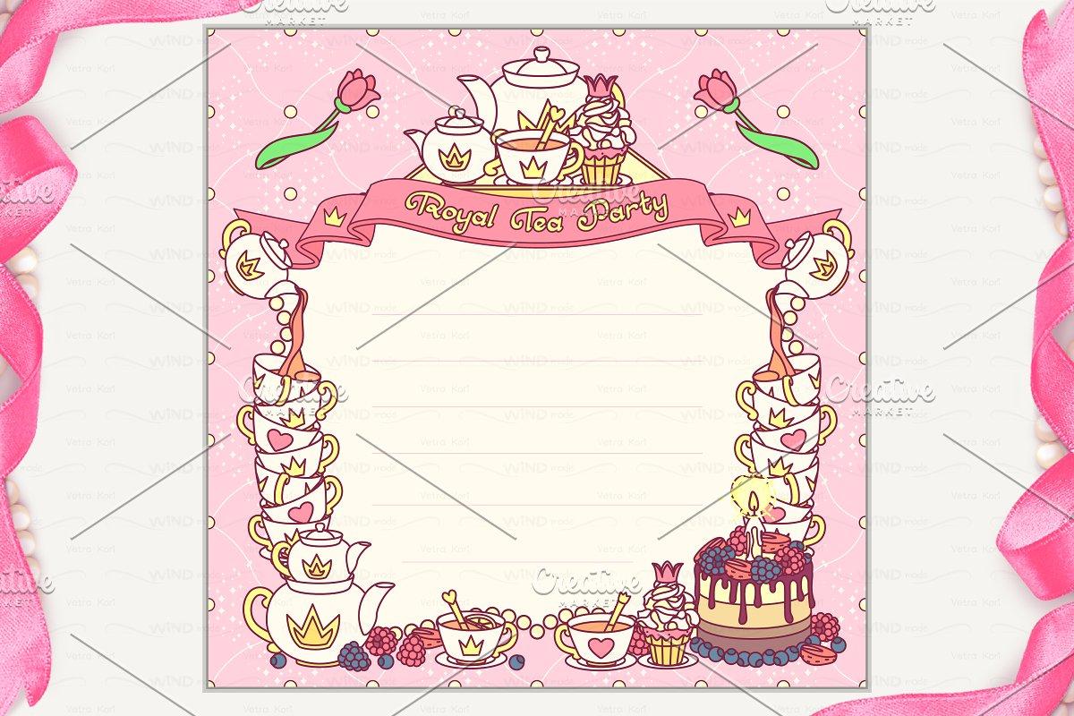 Vector Royal Tea Party Invitation